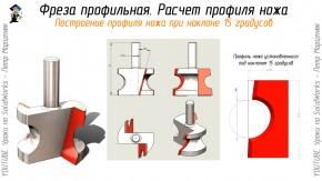Построение профиля ножа при наклоне