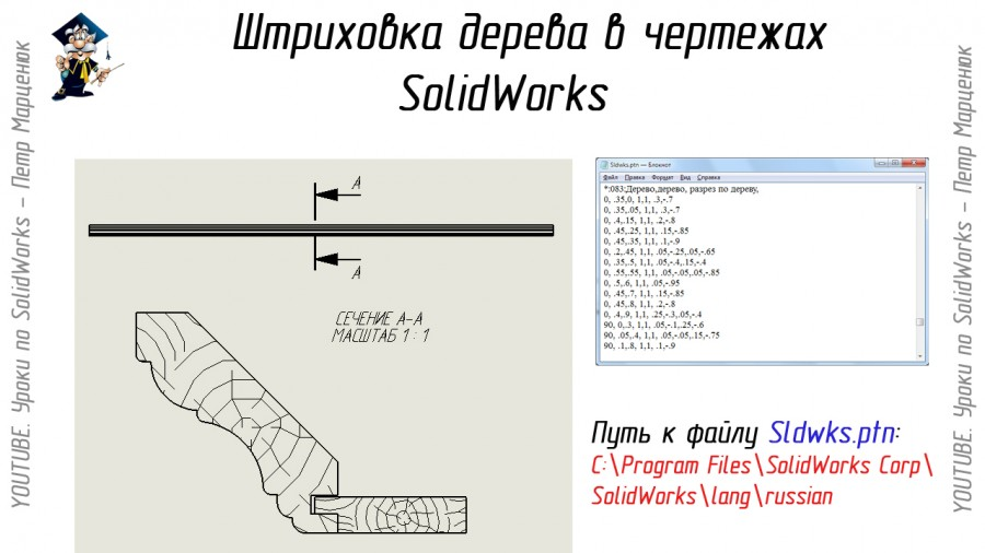 Штриховка SolidWorks