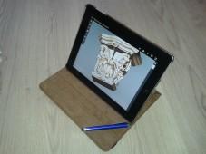 Рабочее положение планшета