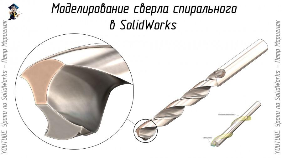 Моделирование сверла спирального
