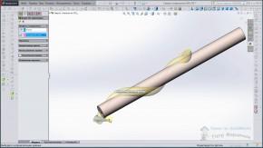 Моделирование сверла в SolidWorks
