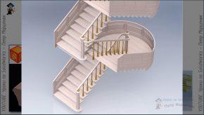 лестница с 3d-поручнями